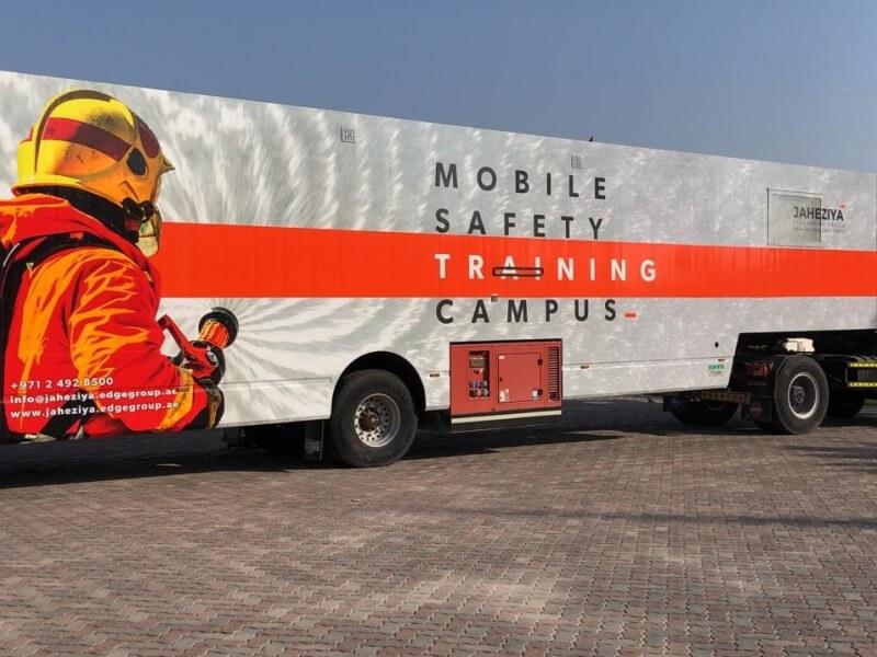 Mobile multifunctional safety educational unit